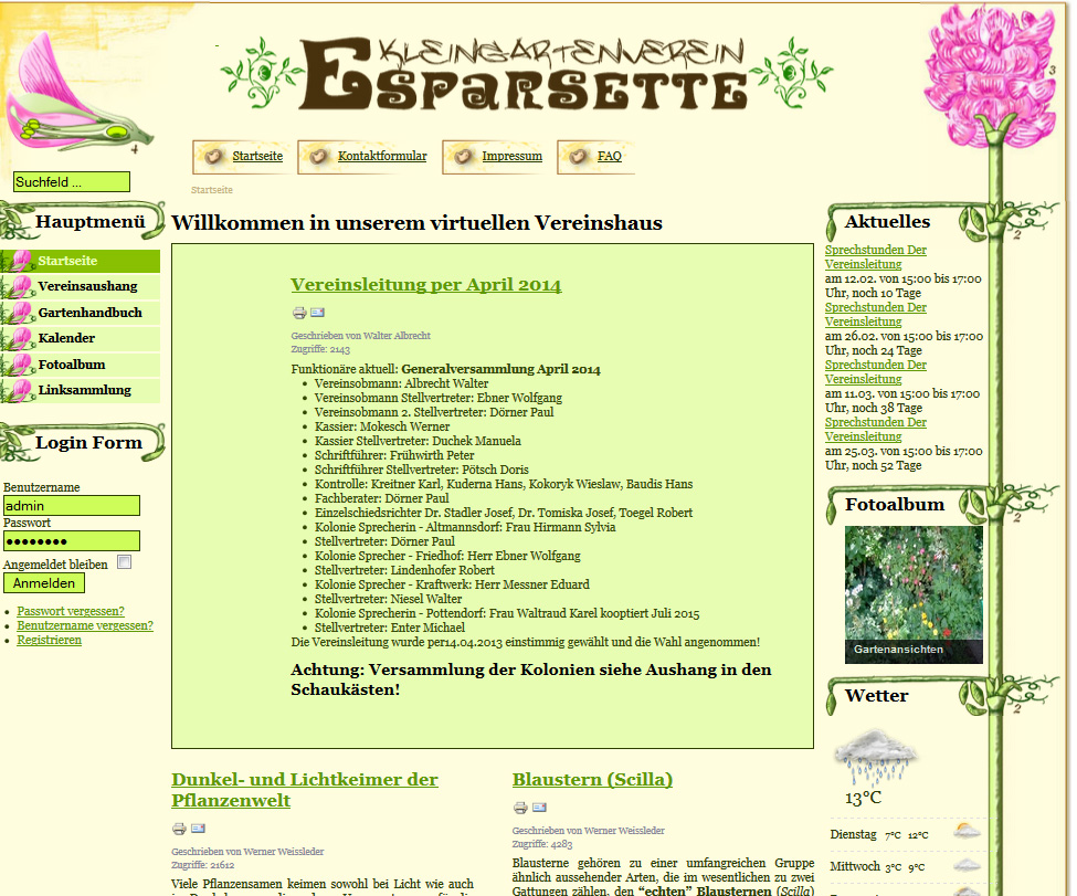 kgv-esparsette.at (komplett inkl. Design)
