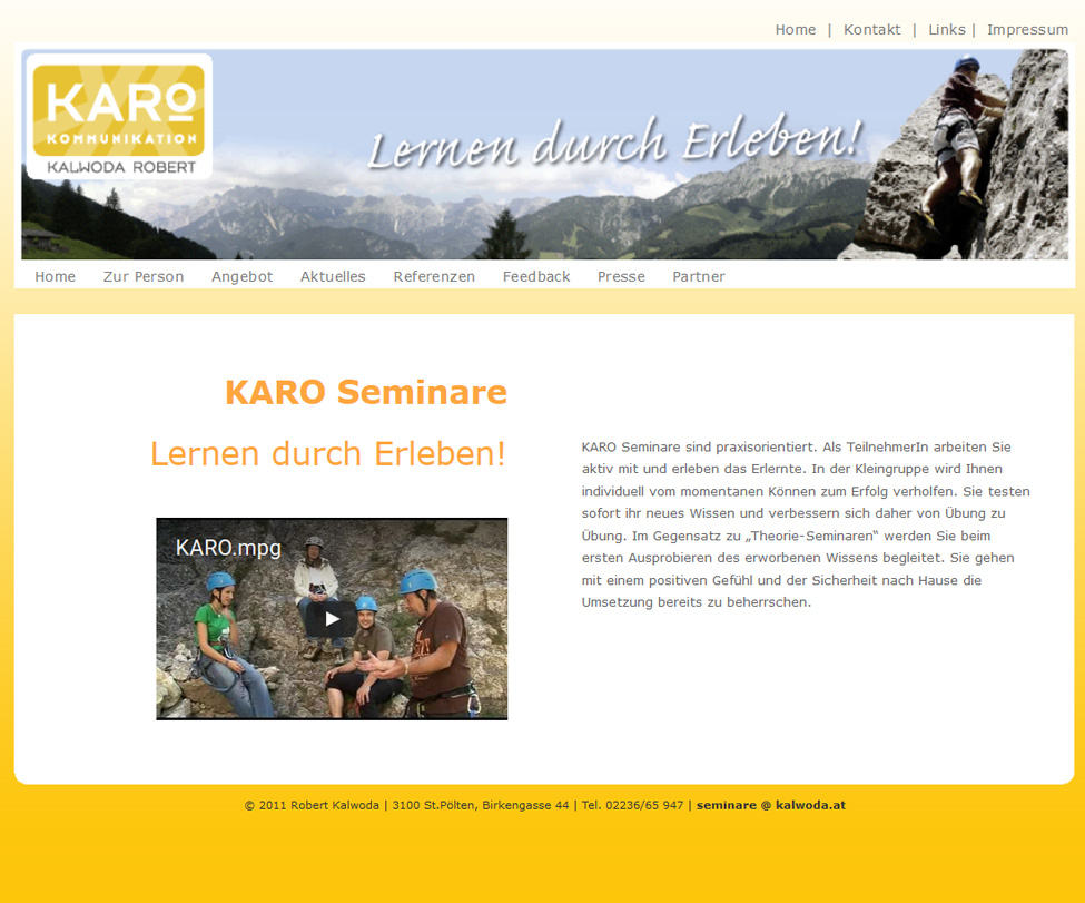 www.kalwoda.at (komplett inkl. Design)